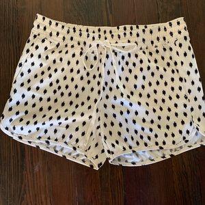 Cream & Black Polka Dot Shorts